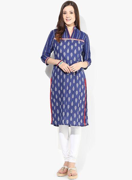 Buy Jaipur Kurti Blue Printed Kurti for Women Online India, Best Prices, Reviews | JA715WA19USEINDFAS