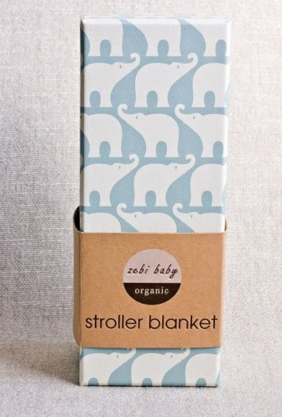 Gorgeous Zebi Baby Elephant Organic Stroller Blanket - Funky Baby Gift spotted at Not Another Baby Shop