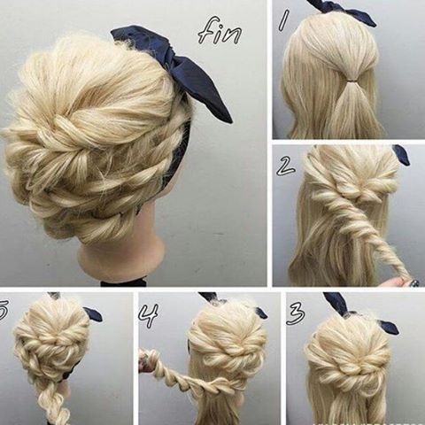 Beautiful,neat and great for a hot weather hairdo. #simple #alldoneup #beautiful