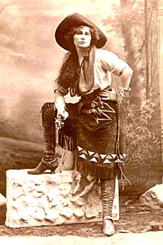 Annie Oakley ... a lady who meant business -- Who must be Calamity Jane's BFF -- My Mimmie lovingly called me Calamity Jane as I proudly rode out in the pasture with my ruffled shirt, pants, leather chaps, boots, holster with my pearl grip handles taming the wild west of the great hill country in small town Texas.