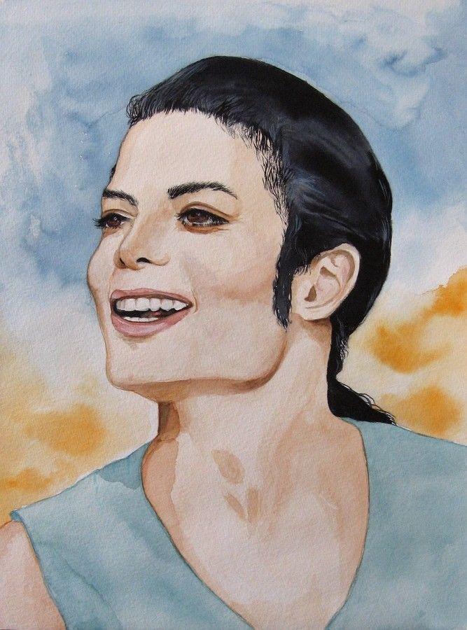 Michael Jackson - Portrait Aquarell - kein Druck - absolutes Unikat    eBay
