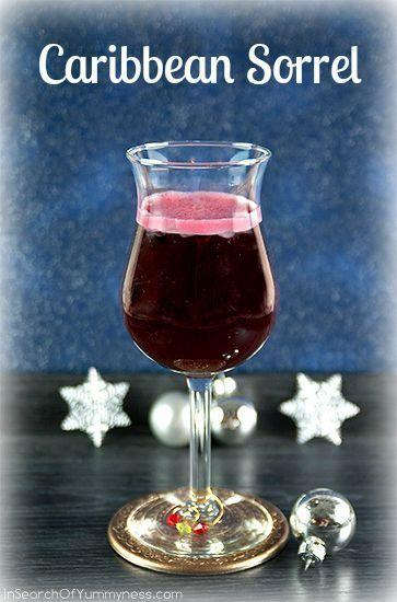 Caribbean Sorrel Drink Recipe | InSearchOfYummyness.com