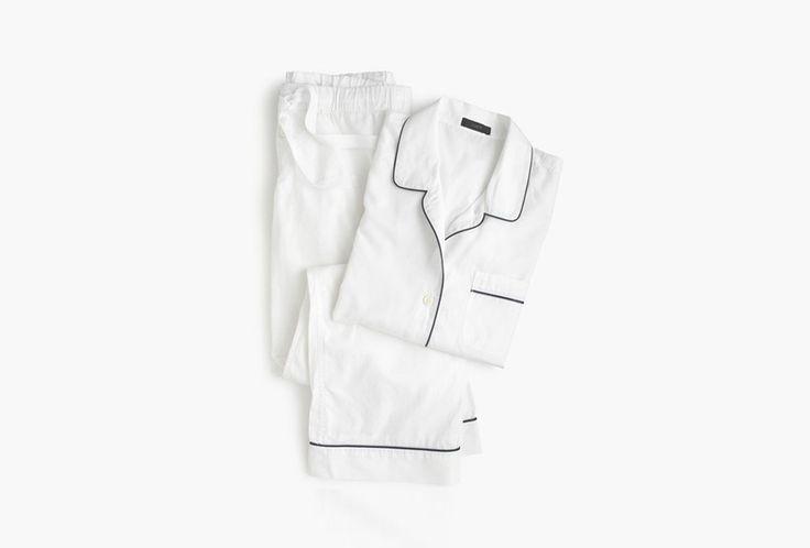 Jcrew Vintage Pajama Set in White