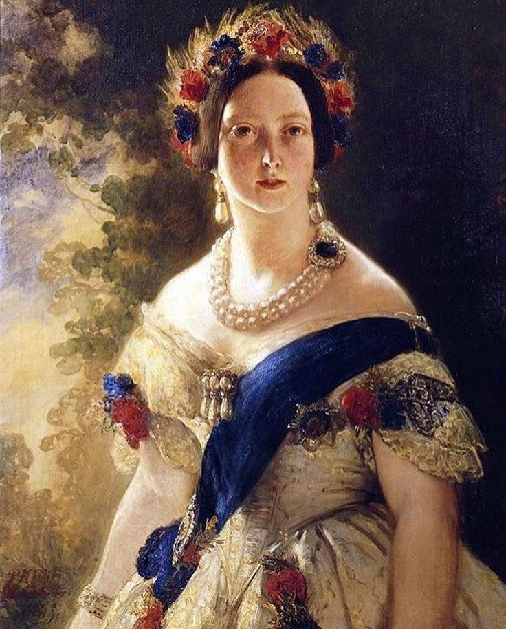 Portrait of Queen Victoria, painted in 1845 by Franz Xaver