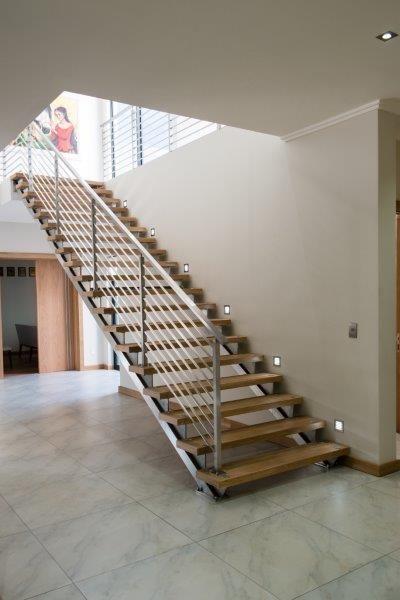 custom stainless steel staircase by Steel Studio
