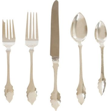 Cathy Waterman Guinevere Sterling Five-Piece Place Setting traditional flatware