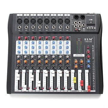 CT80S 8 Channel <b>Professional</b> Live Studio <b>Audio Mixer</b> with 48V ...