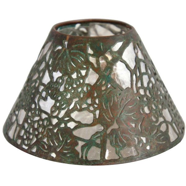 83 best american art glass lamp shades images on pinterest american tiffany studios bronze grapevine pattern candle shade aloadofball