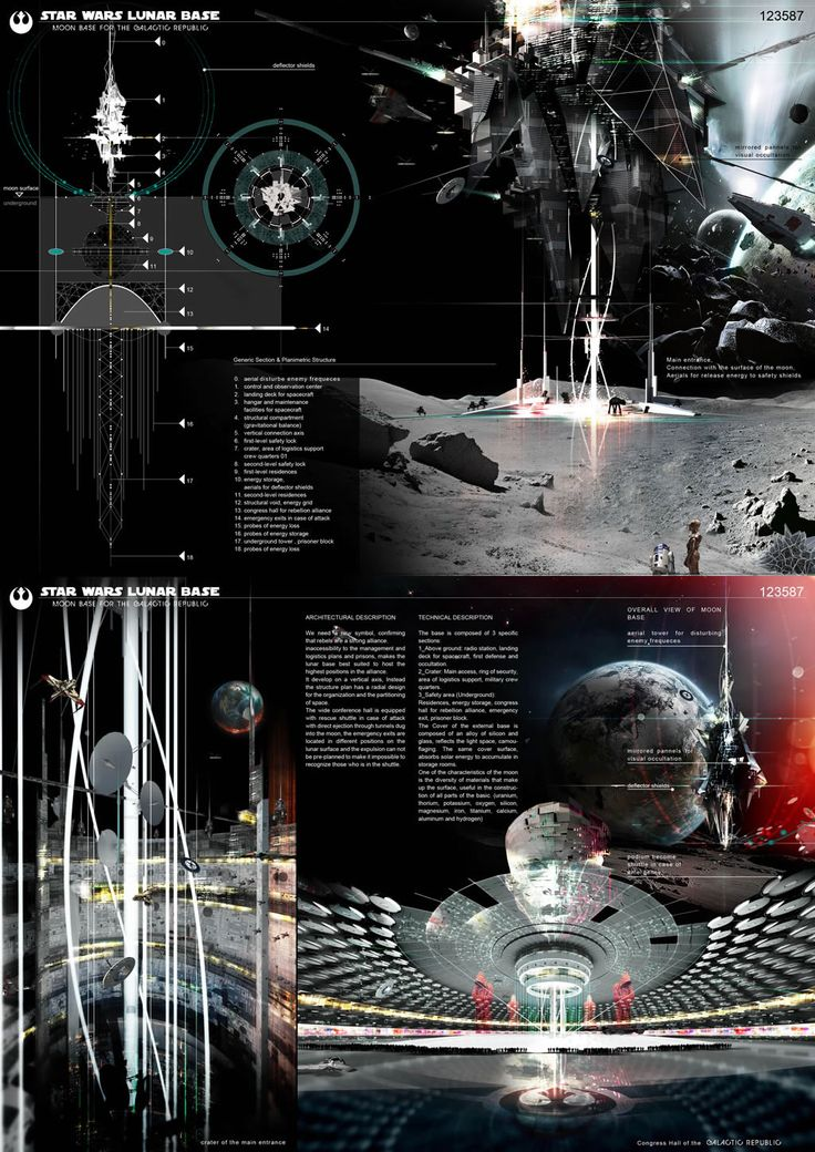 [A3N] : Starwars : Lunar Base (architecture U0026 Design Competition) (1st