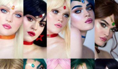 La chica que se transformó en cada una de las personajes de Sailor Moon