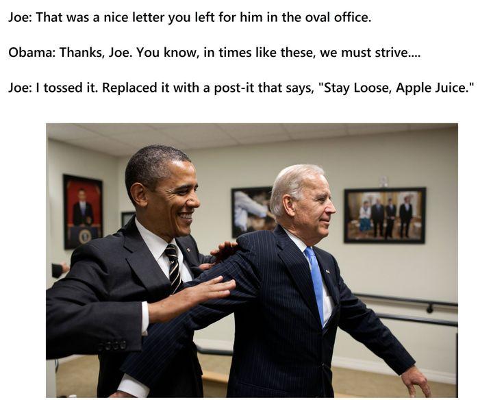 Stay loose, Apple Juice. Go, Joe!