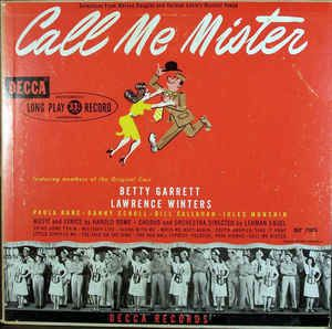 Betty Garrett, Lawrence Winters - Call Me Mister (Vinyl, LP) at ...