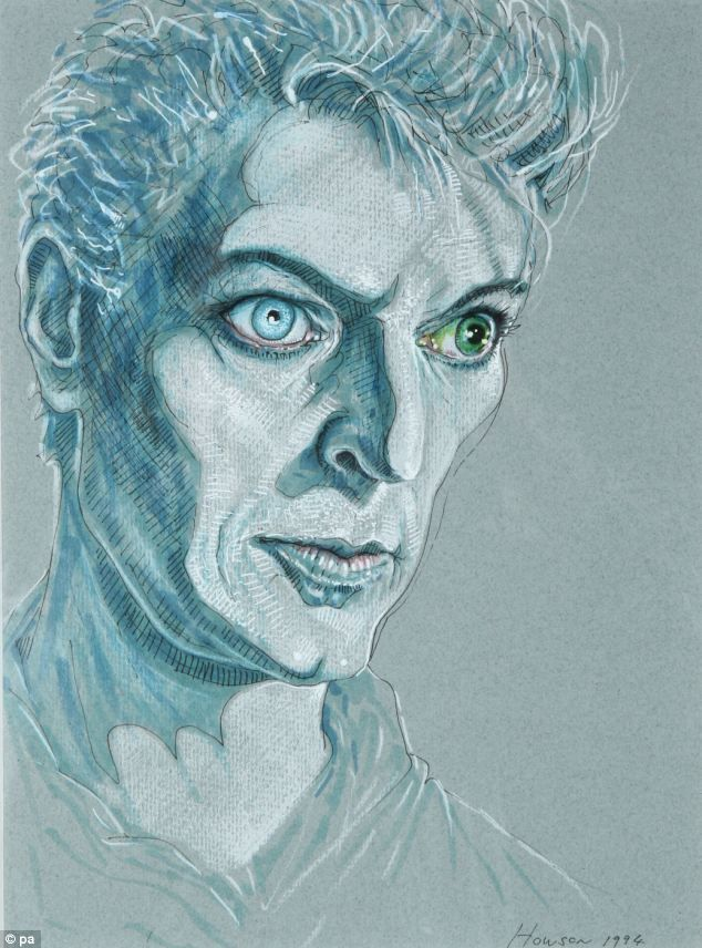 The 10 sketches of David Bowie by Scottish artist Peter Howson raised £35,000 at auction