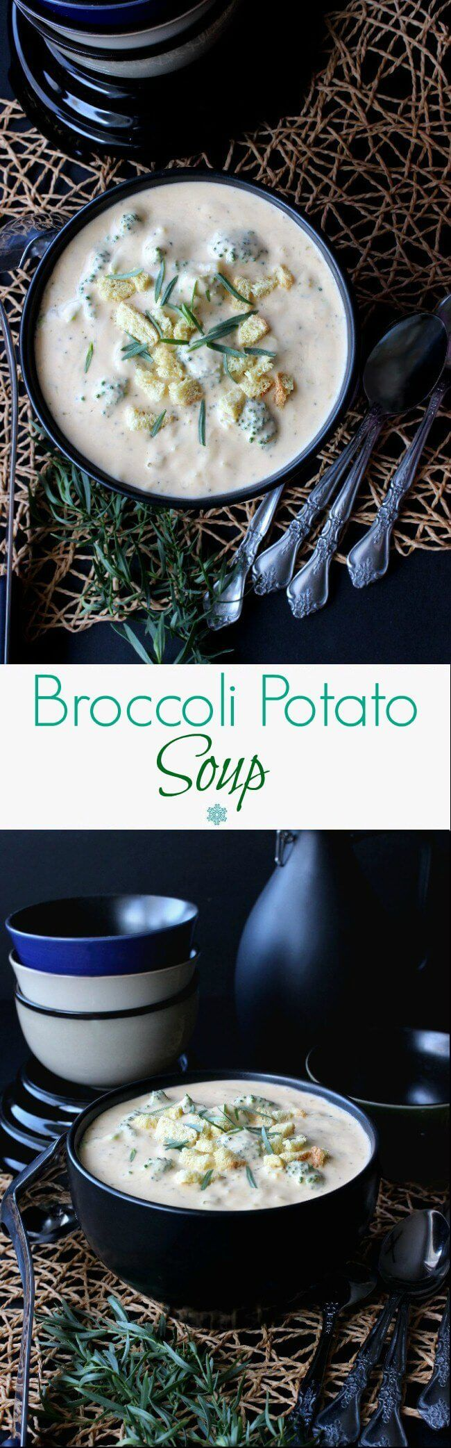 Healthy Broccoli Potato Soup has complex flavors and is also easy to make. Packed full of veggies your family will love with plenty of 'back-for-more' power.  #LoveMySilk @lovemysilk
