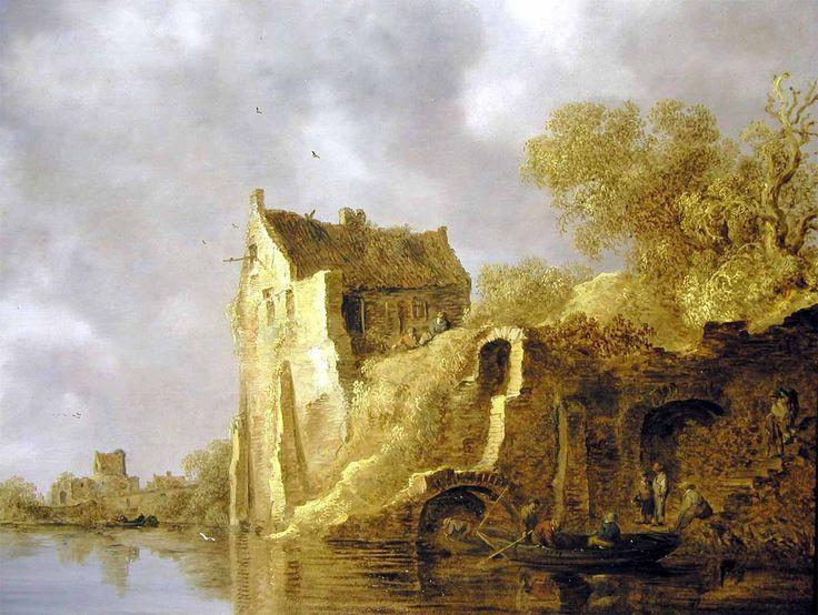 Jan van Goyen - Rivierlandschap met een ruïne