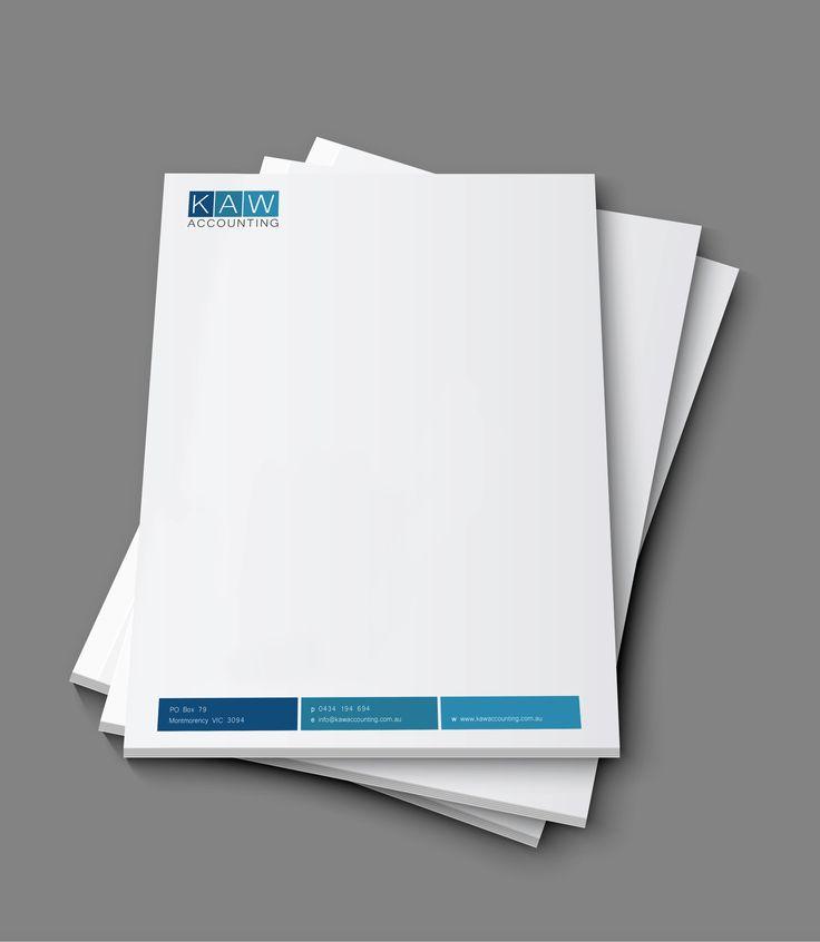 KAW Accounting letterhead