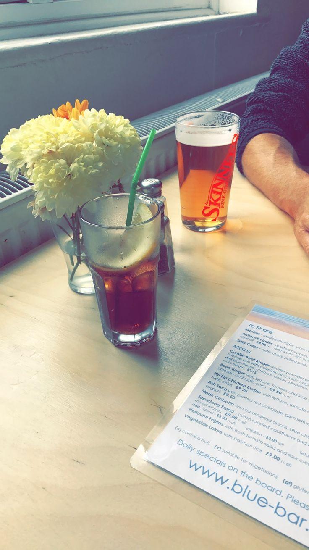 blue bar, porthtowan 🌀 (cornwall)  #bluebar #birthday #restaurant #cornwall #england #sunny #porthtowan