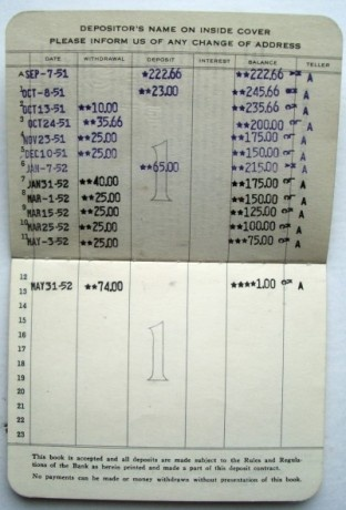Savings account passbooks.  We felt so grown up when we got ours....