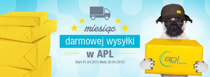 Kwiecień miesiącem darmowej wysyłki w APL Health & Happiness.  Zapłać wyłącznie za zamówiony towar, nie ponosząc kosztów przesyłki. Zapraszamy na www.apl-zoo.eu