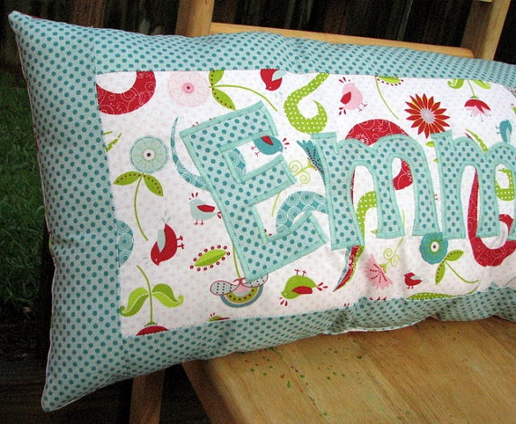 Personalized Name Pillow Little Birds Swirls and by SweetSamantha & 128 best Name pillows images on Pinterest | Cushions Crafts and ... pillowsntoast.com