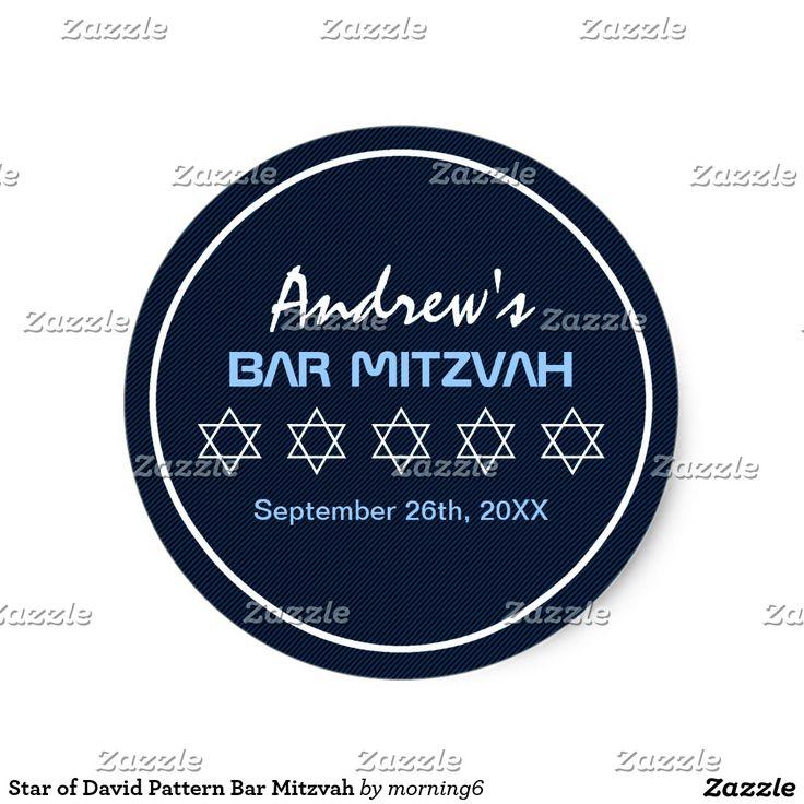Estrella de la barra Mitzvah del modelo de David