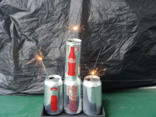 My Diet Coke Cans sparkler stack