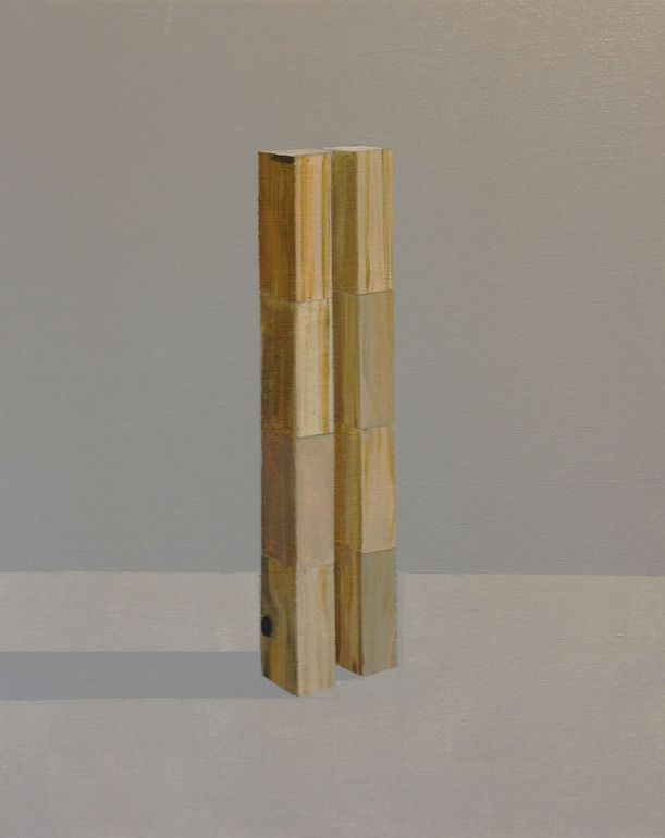"Saatchi Online Artist: Stuart McHarrie; Oil 2013 Painting ""tower blocks"""