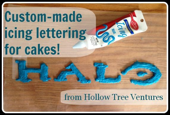 Step-by-step EASY instructions for adding customized lettering to a birthday cake!