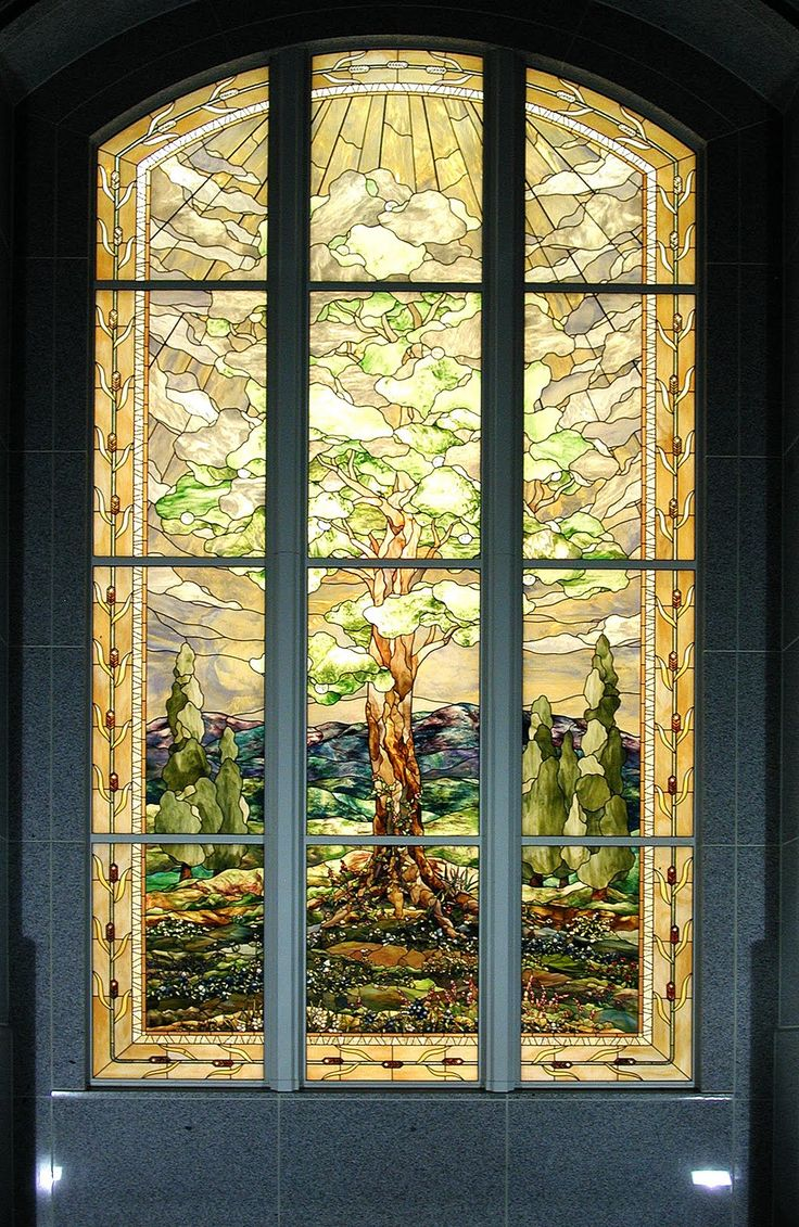 San Antonio Texas LDS TempleStained Glass Windowby Tom Holdman