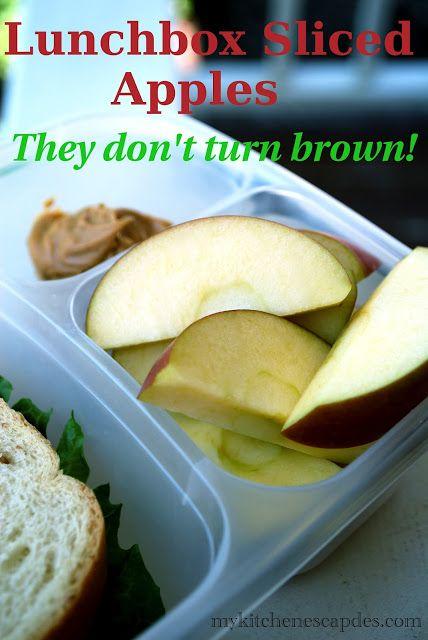 My Kitchen Escapades: Lunchbox Sliced Apples