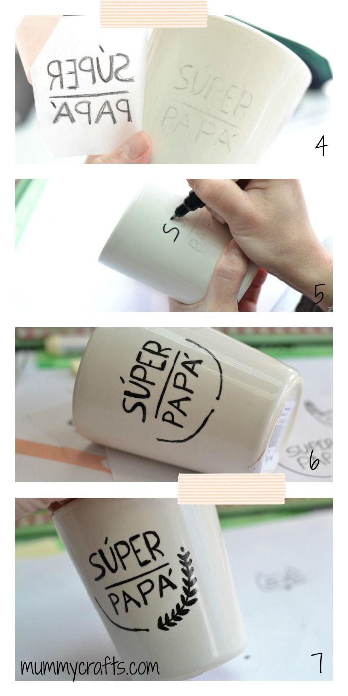Decorar una taza con rotuladores para cerámica paso a paso