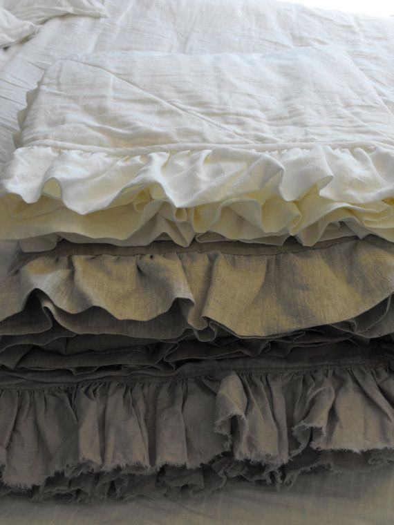 Linen. The oldest fabric known to man which is naturally bacteria-resistant and has other amazing properties. Pure Linen Comforter -Winter weight on Etsy, $257.89