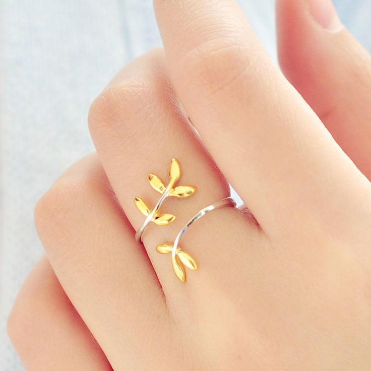 New Arrival 925 Sterling Silver Leaves Open Rings For Women Hypoallergenic Sterling Silver Jewelry Lady Gift