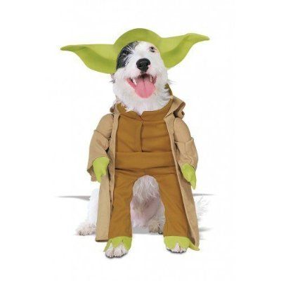 Animal Pet Dog Cat Star Wars Yoda Halloween Fancy Dress Costume Outfit S-XL (Extra Large)