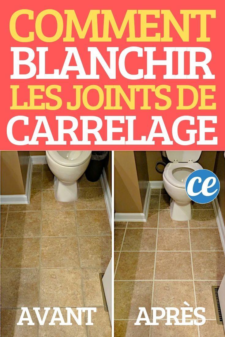 Mon Astuce Ultra Facile Pour Blanchir Les Joints De Carrelage Noircis Recette Joint De Carrelage Blanchir Joints Carrelage Nettoyer Joints Carrelage