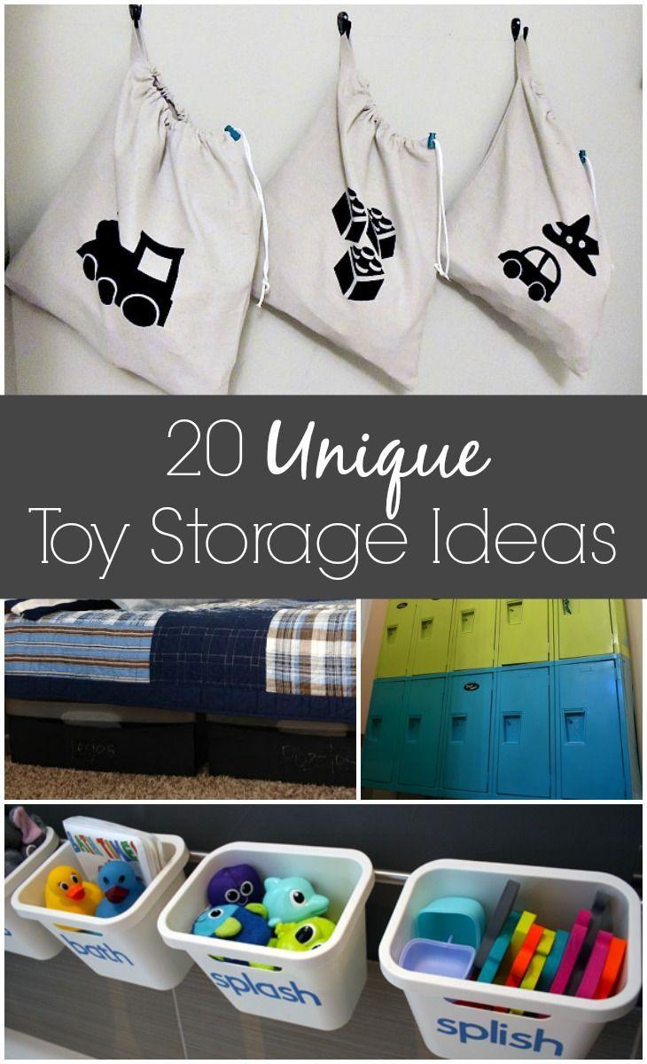 20 unique toy storage ideas to get your house organized via GrowingUpGabel.com