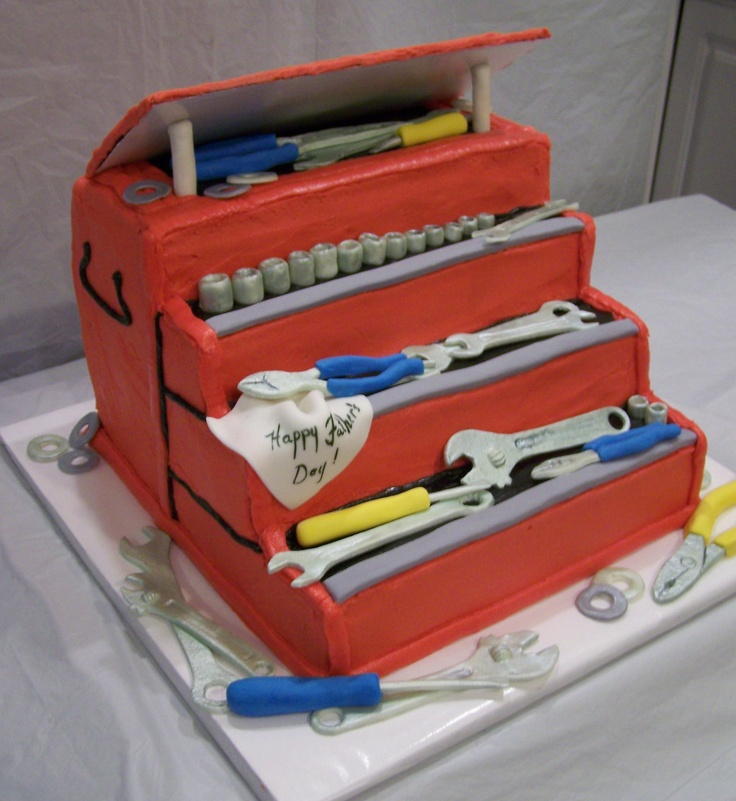 Cake Ideas From Cake Box : tool box cake with all handmade gumpaste and fondant tools ...