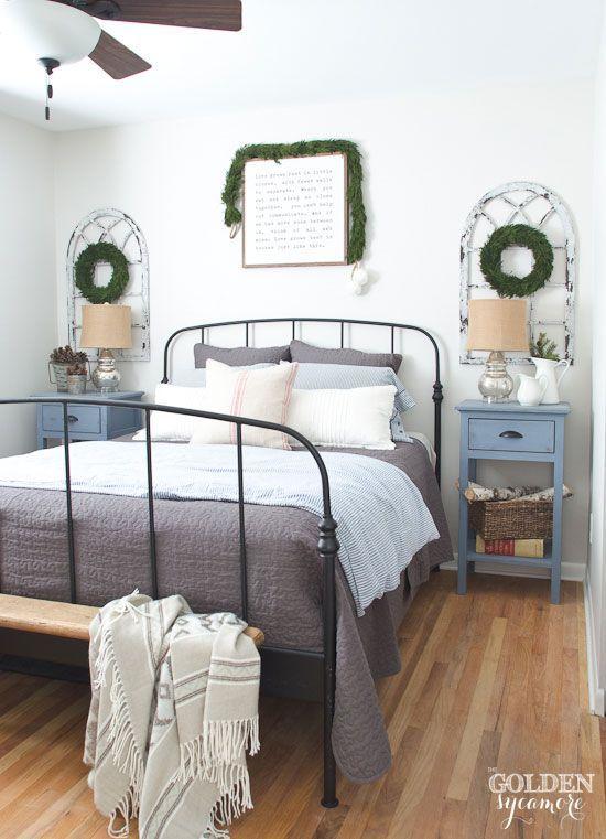 Cozy Neutral Christmas Bedroom WinterChristmas Decor