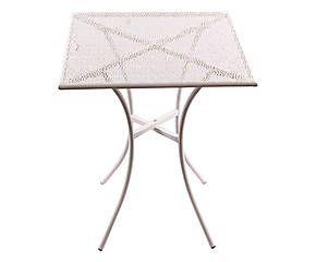 Tavolo in ferro bianco - 60x60x70 cm