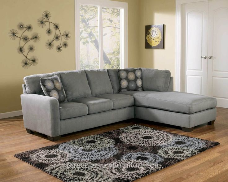 Furniture Liquidators   Baton Rouge, LA Zella Charcoal Right Facing Chaise  Sectional