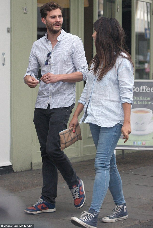 Are Jamie Dornan and Amelia Warner discussing baby names?