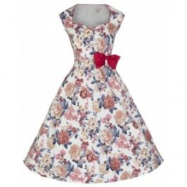 Robe Pin-Up Rétro 50's Rockabilly Leda Fleurs