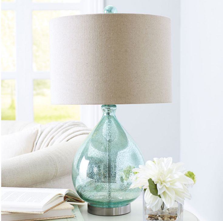 Teal Teardrop Luxe Lamp - Pier One