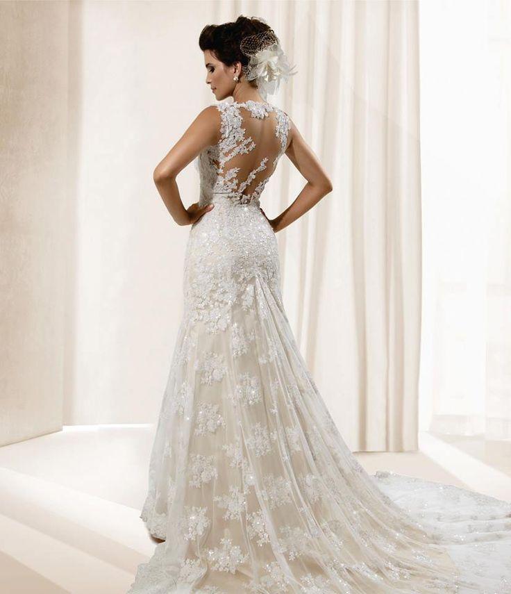 Vestidos de noiva tipo sereia com renda