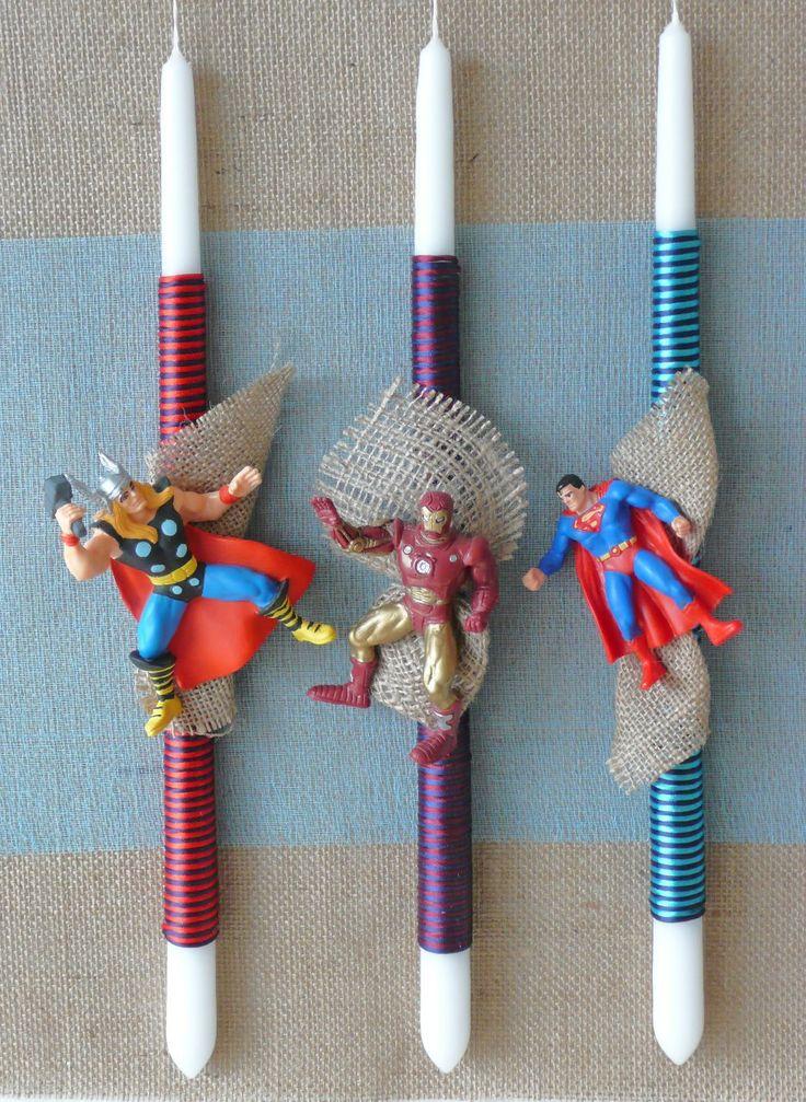 Πασχαλινές λαμπάδες Marvel-DC comics