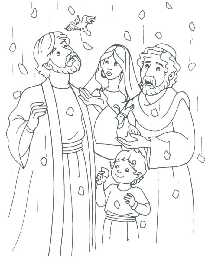 Manna From Heaven Coloring Page Bible Coloring Pages Sunday