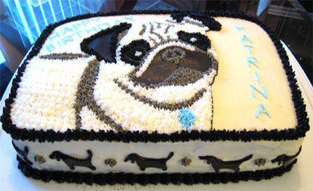 Pug Cake by Cakeland Creations