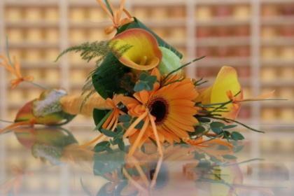 Oranje bruidsboeket