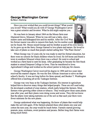 george washington carver essay george washington biography essay  best george washington carver images alternative here s a packet of information on george washington