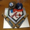Atlanta Braves Birthday Cake